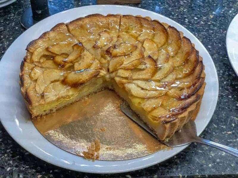 Apfelkuchen (pastel de manzana)