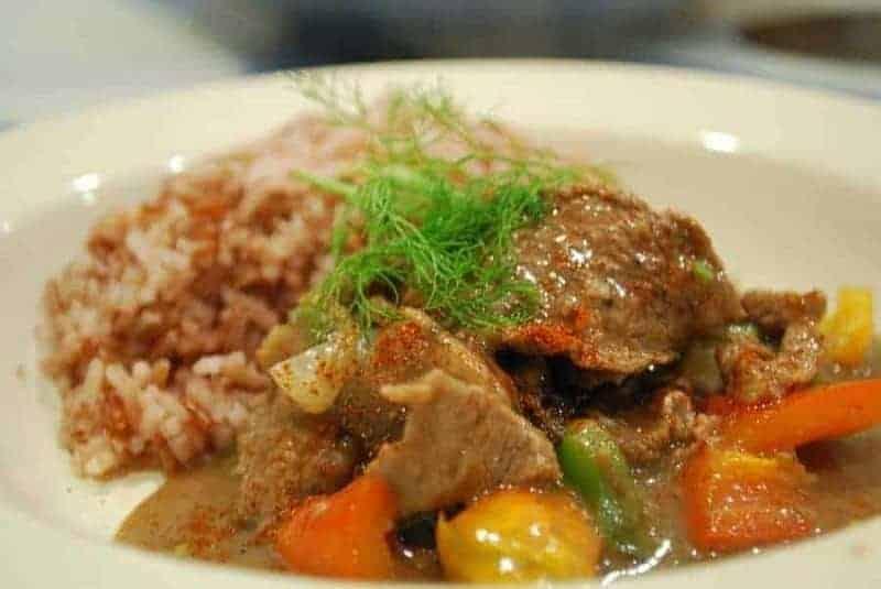 Beef Stroganoff (filete de res)