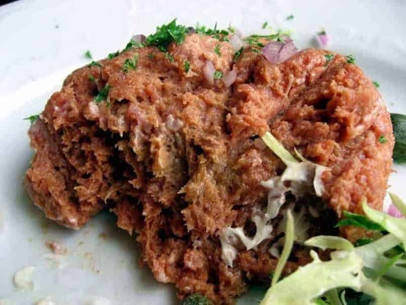 Filete Americain (carne picada cruda)