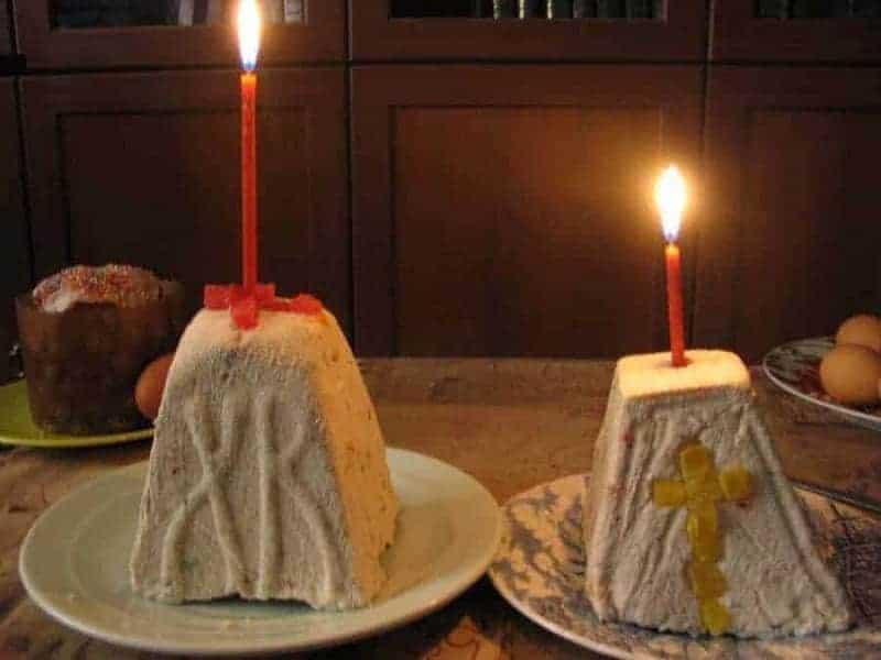 Paskha (pastel de queso endulzado)