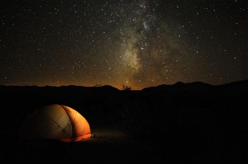 Estrellas desde Valle de la Muerte (Death Valley)