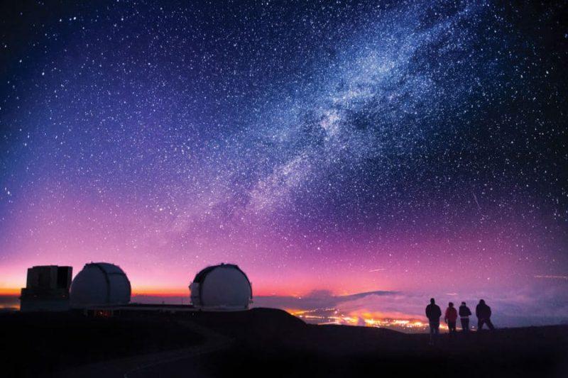 Estrellas desde Mauna Kea, Hawai