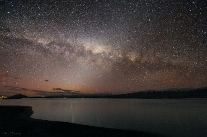 Estrellas desde Lago Tekapo, Nueva Zelanda