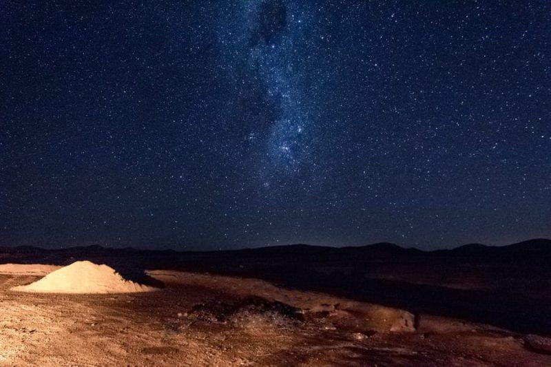 Estrellas en Desierto de Atacama
