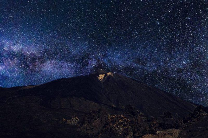 Estrellas desde Teide, Tenerife