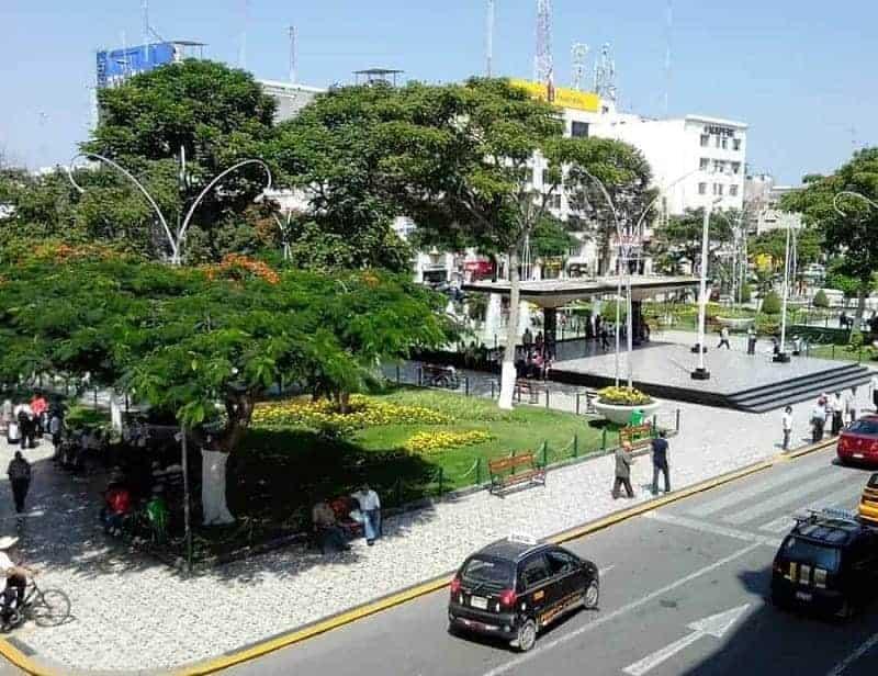 Plaza de Armas en Chiclayo