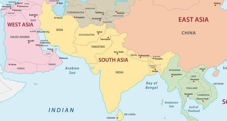 Países de Asia: cuántos son y sus capitales 4