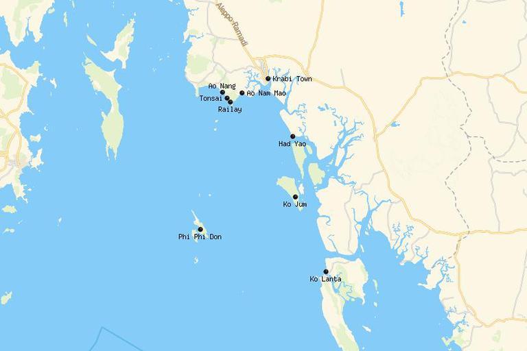 Dónde alojarse en Krabi 4