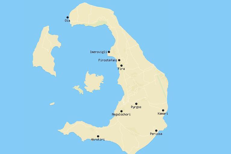 Dónde alojarse en Santorini 1